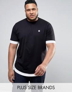 Длинная футболка Le Breve PLUS - Черный