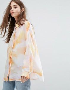 Шифоновая рубашка с принтом Weekday - Мульти