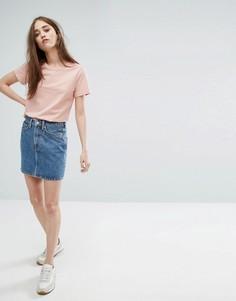 Джинсовая мини-юбка Weekday Wend - Синий