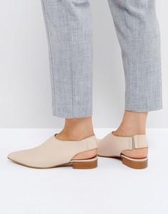 Кожаные туфли на плоской подошве ASOS MISCHIEF Premium - Бежевый