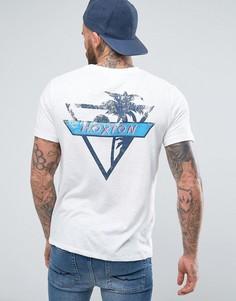 Меланжевая футболка с принтом Hoxton на кармане Hoxton Denim - Бежевый
