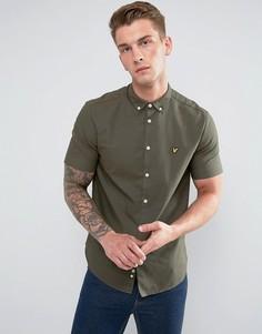 Зеленая оксфордская рубашка с коротким рукавом Lyle & Scott - Зеленый