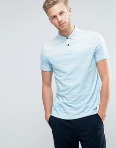 Синяя меланжевая футболка-поло в полоску BOSS Orange by Hugo Boss - Синий