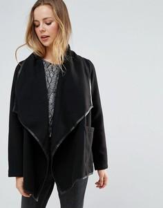 Куртка с каскадным передом Wal G - Черный