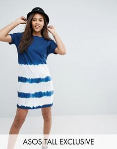 Платье-футболка с принтом тай-дай ASOS TALL - Мульти
