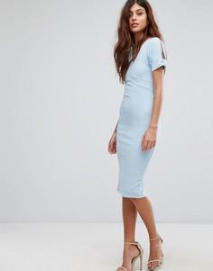Платье-футляр миди с короткими рукавами Be Jealous - Синий