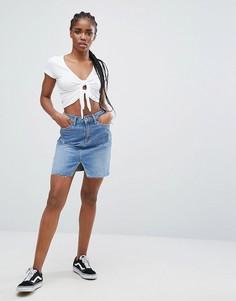 Джинсовая мини-юбка New Look - Синий