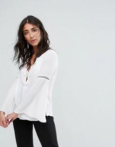 Кружевная блузка Girls On Film - Белый