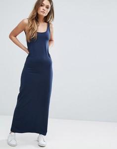 Трикотажное платье макси Vero Moda - Темно-синий