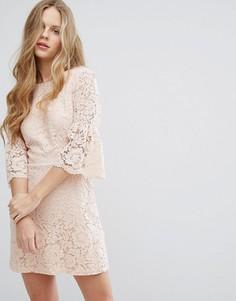 Кружевное платье Miss Selfridge - Бежевый
