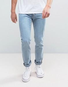 Синие выбеленные зауженные джинсы Weekday Friday - Синий
