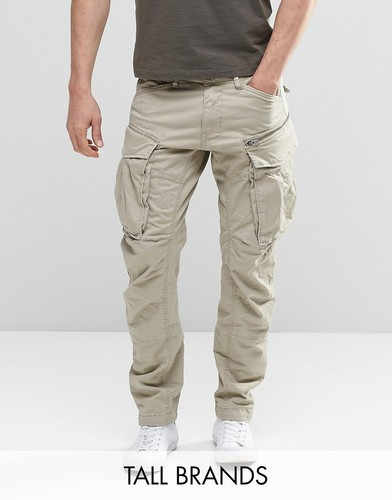Суженные книзу брюки карго с молнией G-Star TALL Rovic 3D - Бежевый