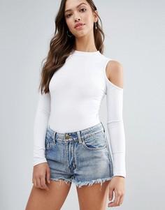 Боди с открытыми плечами Glamorous - Белый