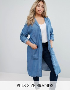 Легкое джинсовое пальто Junarose - Синий