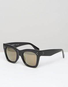 Черные квадратные солнцезащитные очки AJ Morgan - Черный