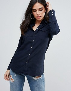 Прямая джинсовая рубашка G-Star Tacoma - Темно-синий