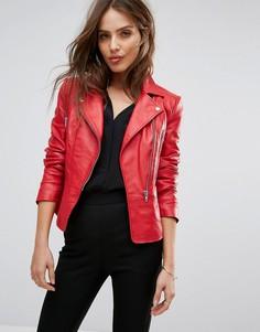 Красная кожаная куртка Y.A.S - Красный