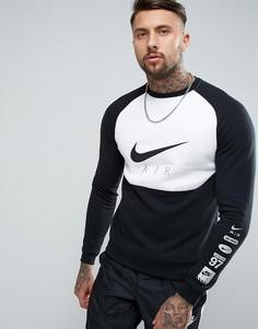 Черный свитшот с блочным принтом Nike Air 832150-011 - Черный