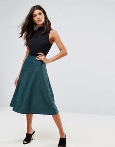 Фактурная юбка-трапеция Ax Paris - Зеленый