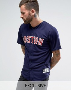 Рубашка Majestic MLB Boston Red Sox - Темно-синий
