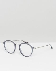 Круглые очки в серой оправе Ray-Ban 0RX2447V - Серый