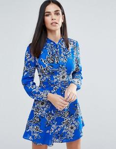 Короткое приталенное платье с цветочным принтом Lipsy - Мульти