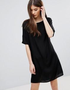 Свободное платье-футболка Pieces Irina - Черный