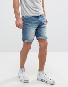 Выбеленные джинсовые шорты Solid - Синий