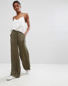 Свободные брюки b.Young - Зеленый