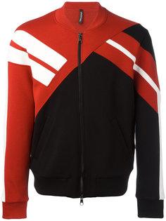 куртка бомбер с контрастной панелью Neil Barrett
