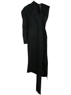 пальто с отделкой спереди  Yohji Yamamoto