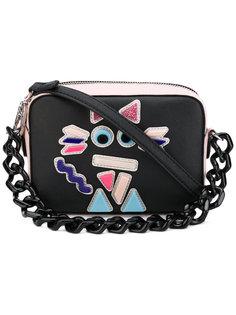 маленькая сумка-тоут с отделкой в виде кошки  Karl Lagerfeld