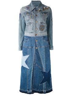джинсовая куртка со звездой на спине Roberto Cavalli