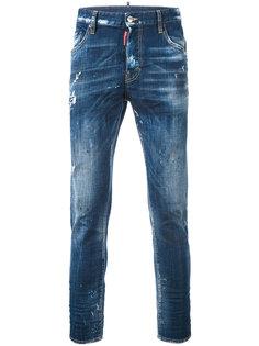 джинсы скинни со слегка выцветшим эффектом Dsquared2