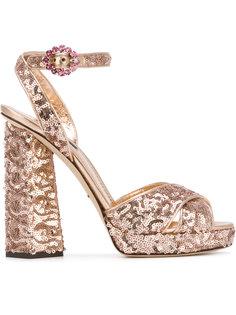 босоножки в пайетках Dolce & Gabbana
