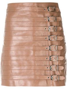 короткая юбка с ремешками Manokhi