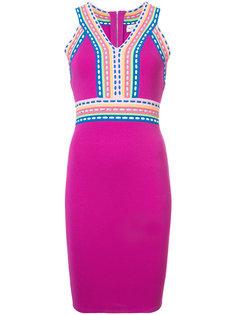 приталенное платье с контрастной отделкой  Milly