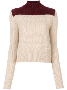 двухцветный свитер с воротником-стойкой Marni