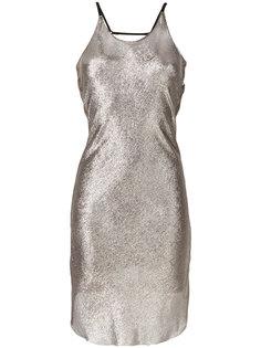 платье с эффектом металлик  Alessandra Marchi