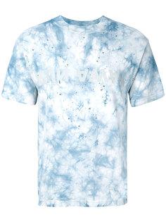 distressed tie-die T-shirt  Satisfy