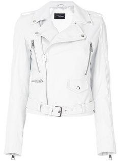 off-center zip fastening jacket Manokhi