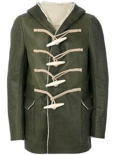 """пальто с капюшоном и пуговицами """"моржовый клык"""" Rick Owens"""
