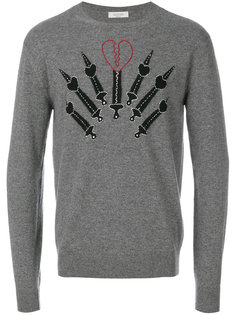 pierced heart appliqué sweatshirt Valentino