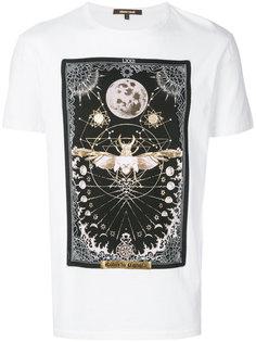 футболка с принтом жука Roberto Cavalli