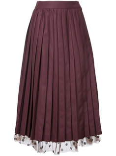 under-layer pleat skirt  Muveil