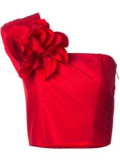 укороченный топ с цветочным украшением Bambah