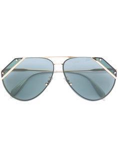 солнцезащитные очки с резными линзами Alexander McQueen