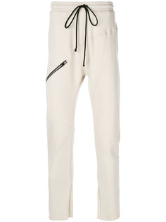zipped detail drawstring sweatpants Lost & Found Rooms