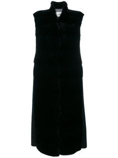 sleeveless panelled coat Manzoni 24