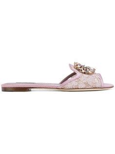 сандалии на плоской подошве Bianca Dolce & Gabbana